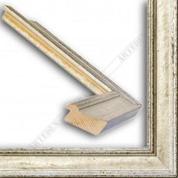SCO826/43 47x19 - drewniana srebrna rama do obrazów i luster sample