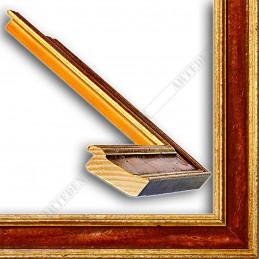 SCO826/44 47x19 - drewniana złota-bordowa rama do obrazów i luster sample