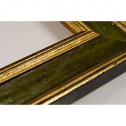 SCO826/47 47x19 - drewniana złota-zielona rama do obrazów i luster