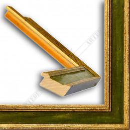 SCO826/47 47x19 - drewniana złota-zielona rama do obrazów i luster sample