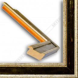 SCO826/48 47x19 - drewniana srebrna-czarna rama do obrazów i luster sample