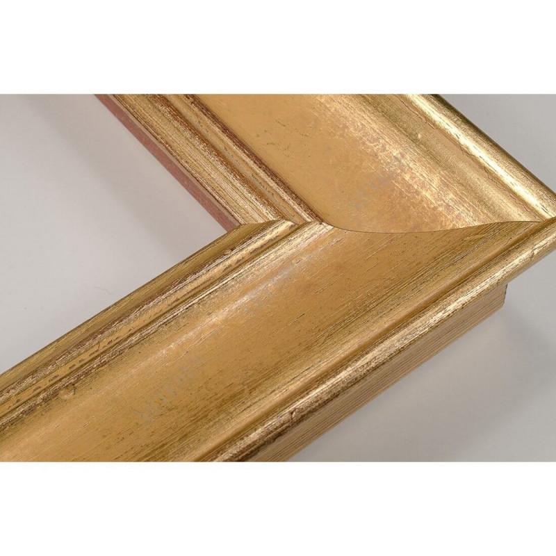 SCO9017/5 69x46 - drewniana champagne złota rama do obrazów i luster
