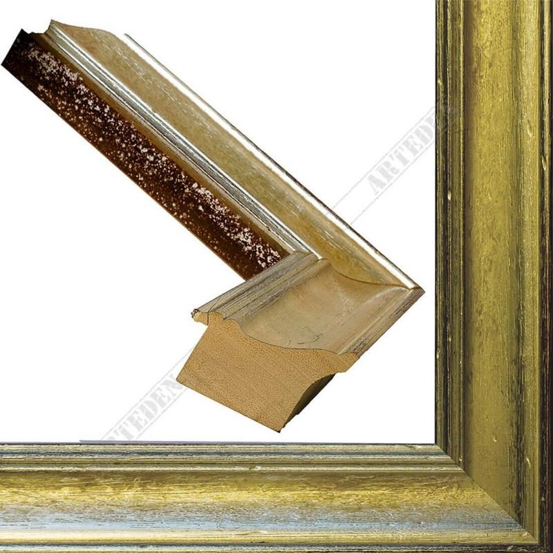 SCO9017/6 69x46 - drewniana champagne srebrna rama do obrazów i luster