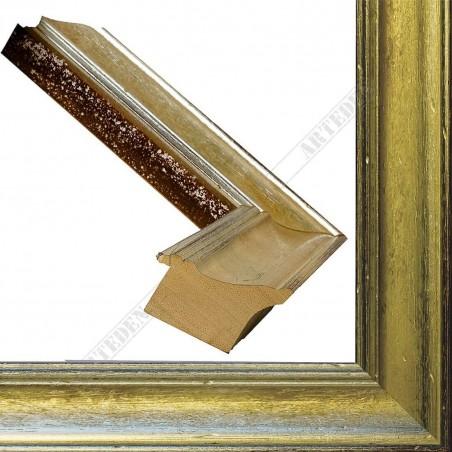 SCO9017/6 69x46 - drewniana champagne srebrna rama do obrazów