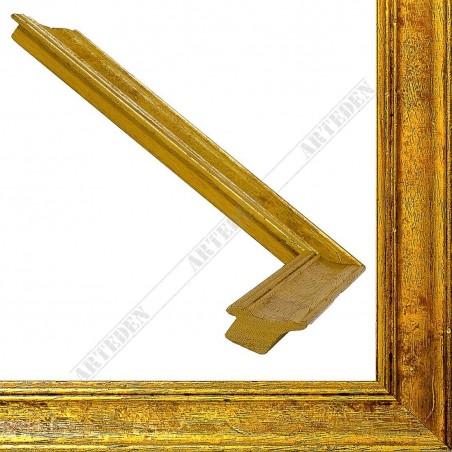 SCO9018/5 34x24 - drewniana champagne złota rama do obrazów i luster