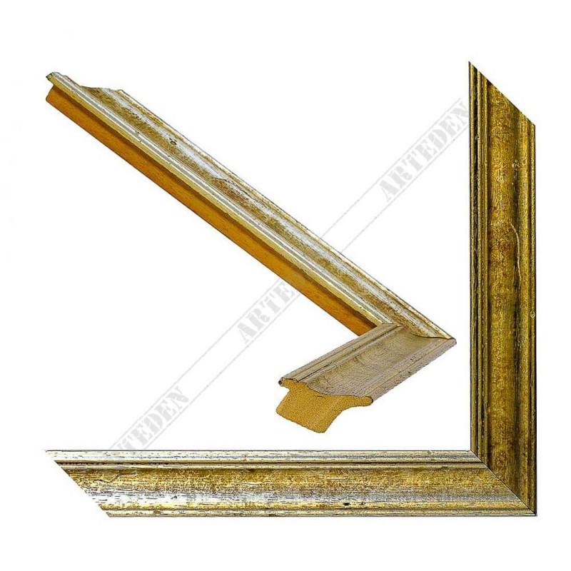 SCO9018/6 34x24 - drewniana champagne srebrna rama do obrazów i luster
