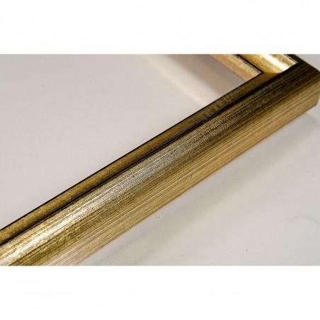 SCO943/52 17x20 - mała złota-czarna ramka do zdjęć i obrazków