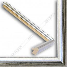 SCO943/53 17x20 - mała srebrna-czarna ramka do zdjęć i obrazków sample