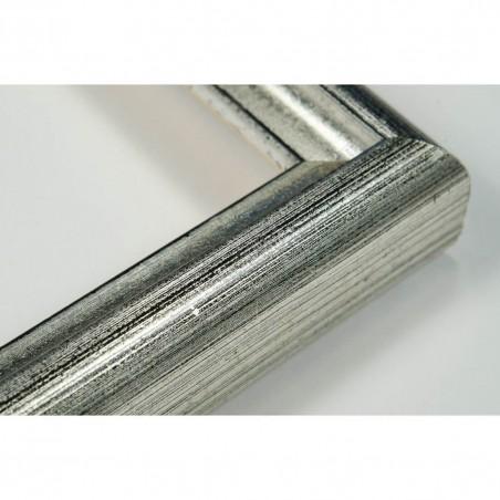 SCO943/53 17x20 - mała srebrna-czarna ramka do zdjęć i obrazków