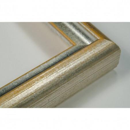 SCO943/58 17x20 - mała srebrna-złota ramka do zdjęć i obrazków