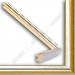 SCO943/58 17x20 - mała srebrna-złota ramka do zdjęć i obrazków sample