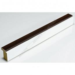 SCO944/377 26x33 - wąska ciemny orzech-biel rama do zdjęć i luster