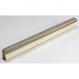 SCO944/379 26x33 - wąska ciemny popiel-biel rama do zdjęć i luster sample