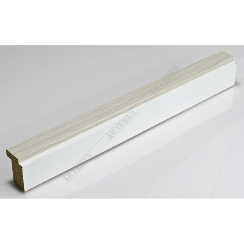 SCO944/380 26x33 - wąska jasny popiel-biel rama do zdjęć i luster