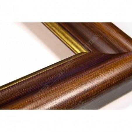 SCO951/NAFO 54x30 - drewniana noce brązowa rama do obrazów i luster