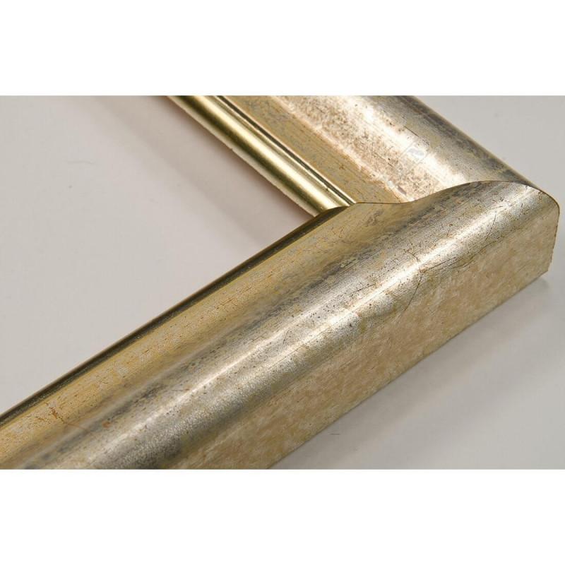 SCO952/59 54x30 - drewniana nostalgia ocieplane srebro rama do obrazów i luster