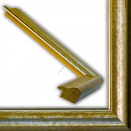 SCO952/59 54x30 - drewniana nostalgia ocieplane srebro rama do obrazów i luster sample