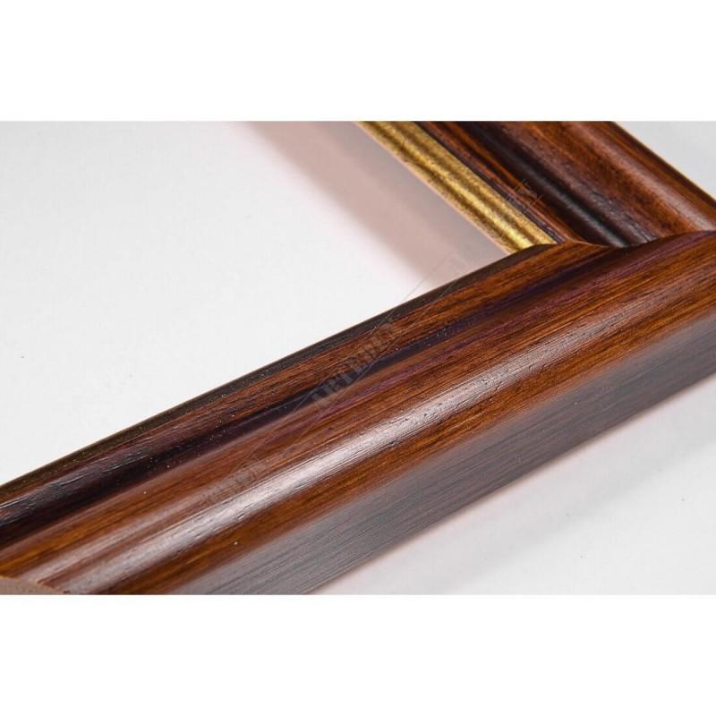 SCO952/NAFO 35x26 - drewniana noce brązowa rama do obrazów i luster