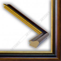 SCO952/NAFO 35x26 - drewniana noce brązowa rama do obrazów i luster sample