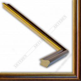 SCO953/NAFO 23x18 - wąska noce brązowa rama do zdjęć i luster sample