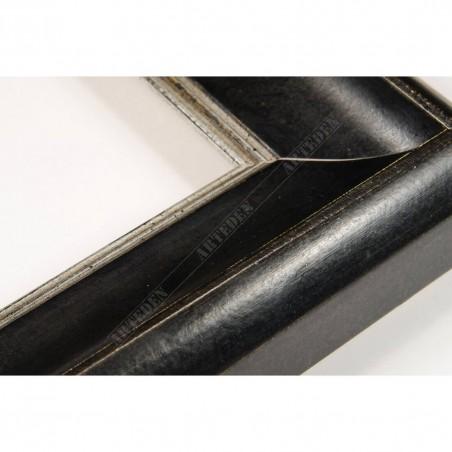 SCO958/148 50x35 - drewniana czarna rama do obrazów i luster