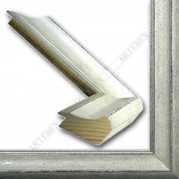 SCO958/149 50x35 - drewniana biała rama do obrazów i luster sample