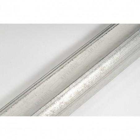 SCO958/152 50x35 - drewniana biało srebrna rama do obrazów i luster