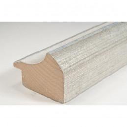 SCO958/152 50x35 - drewniana biało srebrna rama do obrazów i luster sample1