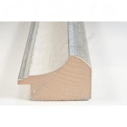 SCO958/152 50x35 - drewniana biało srebrna rama do obrazów i luster sample