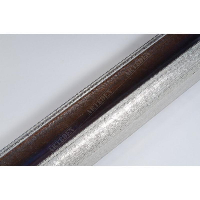 SCO958/153 50x35 - drewniana mahoń-srebrna rama do obrazów i luster