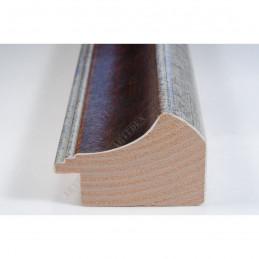 SCO958/153 50x35 - drewniana mahoń-srebrna rama do obrazów i luster sample