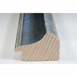 SCO958/154 50x35 - drewniana szaro srebrna rama do obrazów i luster sample