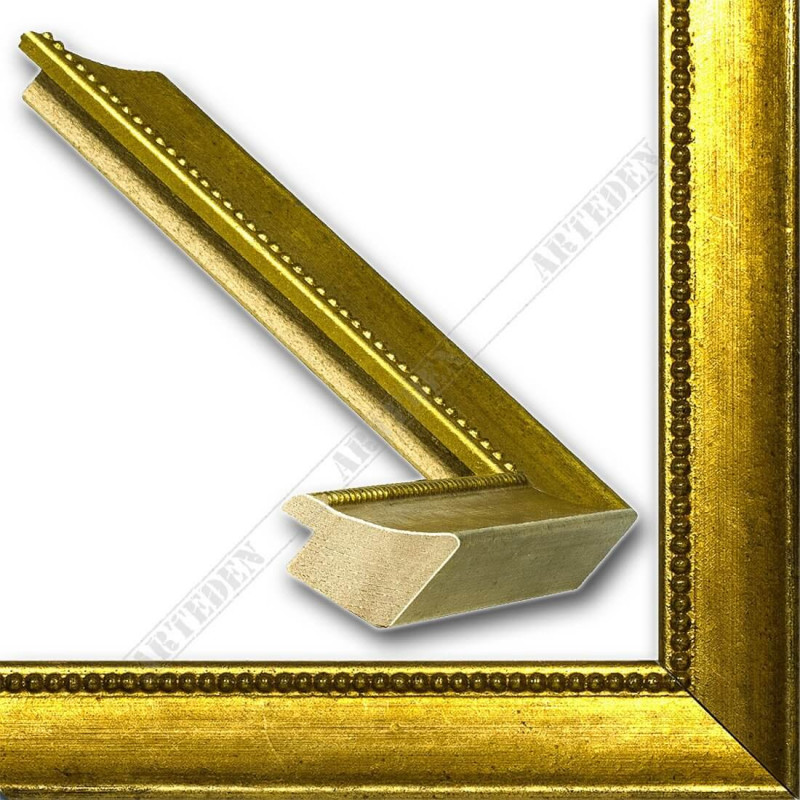 SCO959/145 25x23 - wąska złota rama do zdjęć i luster