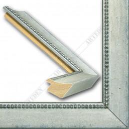 SCO959/149 25x23 - wąska biała-srebrna rama do zdjęć i luster sample1