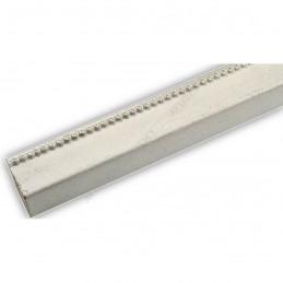 SCO959/149 25x23 - wąska biała-srebrna rama do zdjęć i luster sample