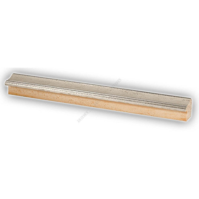 SCO960/154 25x22 - wąska biel-srebro rama do zdjęć i luster sample1