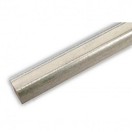 SCO960/154 25x22 - wąska biel-srebro rama do zdjęć i luster