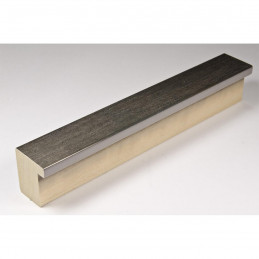 SCO745/412 30x35 - wąska ciemne srebro rama do zdjęć i luster sample