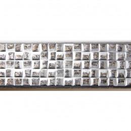 INK3237.626 32x17 - wąska srebrna matowa kratka rama do zdjęć i luster sample1