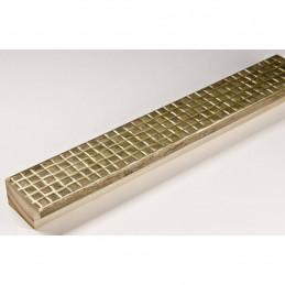 INK3237.726 32x17 - wąska złota matowa kratka rama do zdjęć i luster sample