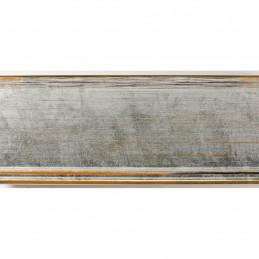 INK7802.652 70x30 - drewniana srebrna rama do obrazów i luster sample1
