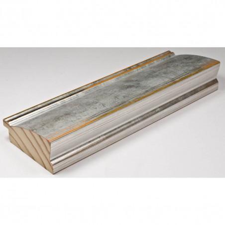 INK7802.652 70x30 - drewniana srebrna rama do obrazów i luster