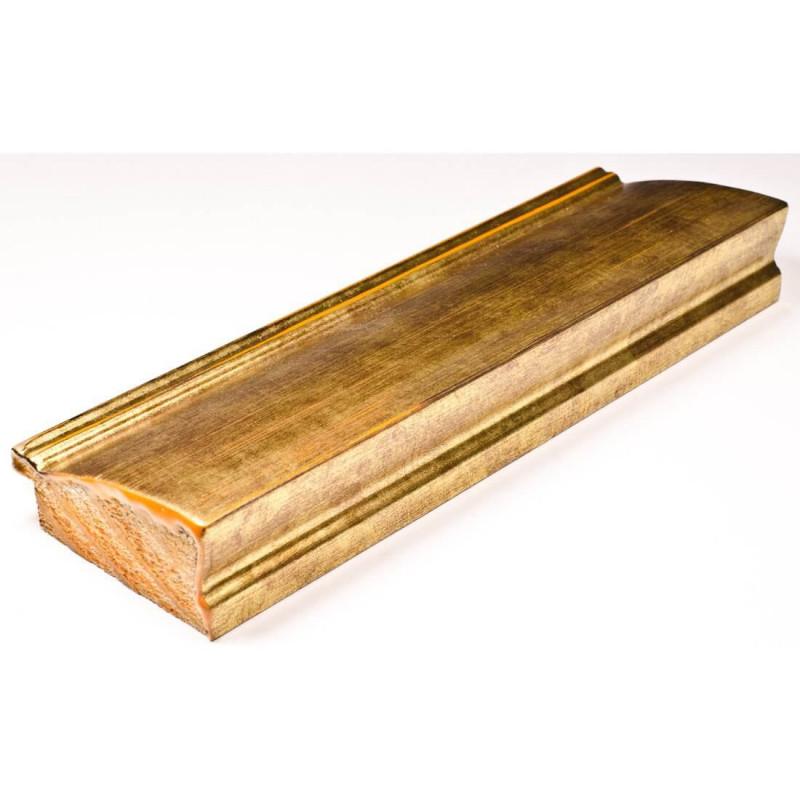 INK7802.759 70x30 - drewniana złoto ciemne rama do obrazów i luster