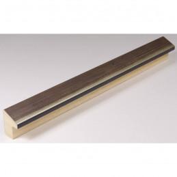 SCO601/294 15x20 - mała skośna ciemny brąz ramka do zdjęć i obrazków sample
