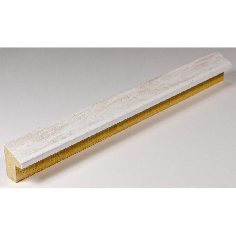 SCO601/474 15x20 - mała skośna biała z naturalną przecierką ramka do zdjęć i obrazków