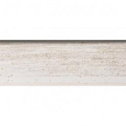 SCO601/474 15x20 - mała skośna biała z naturalną przecierką ramka do zdjęć i obrazków sample1