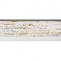 SCO601/475 15x20 - mała skośna biała ze złotą przecierką ramka do zdjęć i obrazków sample1