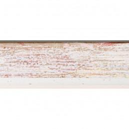 SCO601/476 15x20 - mała skośna biała z czerwoną przecierką ramka do zdjęć i obrazków sample1