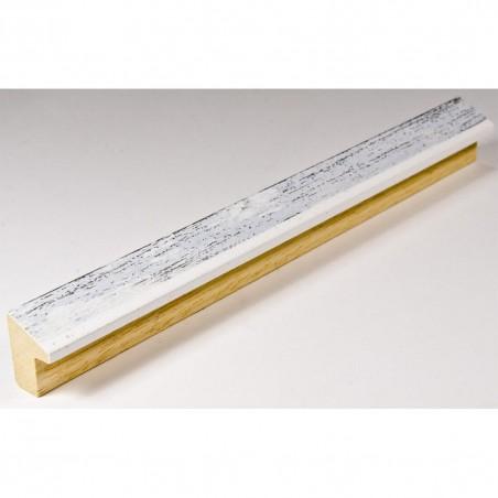 SCO601/478 15x20 - mała biała skośna ramka z szarą przecierką