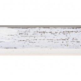 SCO601/478 15x20 - mała skośna biała z szarą przecierką ramka do zdjęć i obrazków sample1